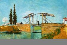Vincent van Gogh Langlois Bridge at Arles - Poster 24x36 inch