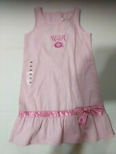 University Georgia UGA Sz 4 Dress PINK Satin Ribbon Sara Lynn Togs NWT