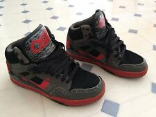 Osiris Rucker Used Men's Skate Shoes Sneakers, Black/Red/Grey/Camo, Size 8