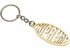 100% Authentic New Supreme Keychain Oval SS17