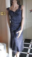 Joseph Ribkoff UK 10 BNWT Delightful Metallic Navy Blue & Silver Top & Skirt Set