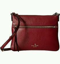 New Kate Spade new york Cobble Hill Gabriele CrossBody Merlot Bag Handbag Wine