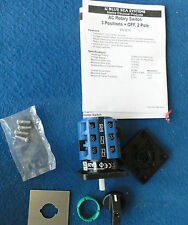 Blue Sea AC Rotary Switch 3positions +Off , 2 poles part No 9010 Aquafax 8-29010