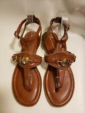 Tommy Hilfiger Women's Toe Sandals Brown Buckle Salenna Size 8M Ankle Strap