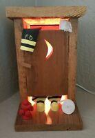 Fireman Joke Outhouse Poop Night Light Funny Moon Table Lamp Bathroom Dad Mom