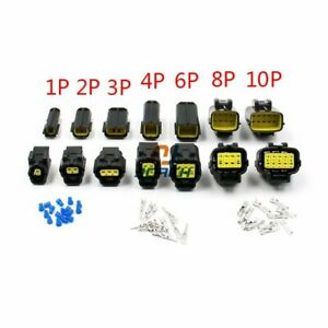 1 set 1/2/3/4/6/8/10/12 Pin Way Waterproof Wire Connector Plug Car Auto Sealed