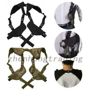 Tactical Hand Gun Shoulder Holster Black Under Arm Double Soft Pistol Holster