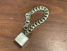 """Vintage Sheffield Gold-Tone & Lucite Pendant Watch Charm Bracelet, 7.5"""""""