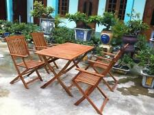 Wooden Patio Piece Table & Chair Sets 5