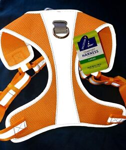 New TOP PAW Reflective Orange DOG HARNESS Large 28'' - 34'' SAFETY & COMFORT