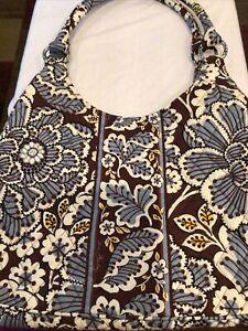 Gently Used 1X - Vera Bradley Slate Blooms Hobo Handbag Purse 11X16