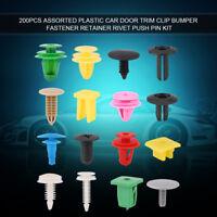 200 Pcs Voiture Porte Clip de Garniture Pare-chocs Fixation Rivet Push Pin Kit