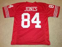 UNSIGNED CUSTOM Sewn Stitched Brent Jones Red Jersey - M, L, XL, 2XL