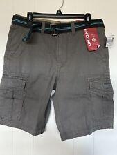 Union bay Men Alfie cargo shorts Size32. Grey Goose+Belt