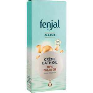 Fenjal Classic Creme Bath Oil with Iconic Fragrance, Lock in Skin Moisture 125ml