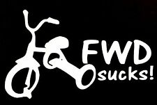 FWD SUCKS DECAL FRONT WHEEL DRIVE CAR TRUCK SUV CHEVY FORD HONDA VW DODGE JDM
