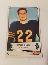 1954 Bowman #23 George Blanda RC  : Chicago Bears