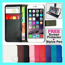 Premium Flip Wallet Case PU Leather Card Cover For iPhone 11 XR X 8 7 6 5 Plus