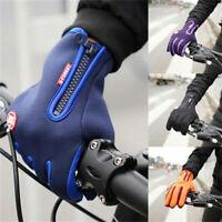 Men Women Outdoor Sports Windstopper Gloves Waterproof Thermal Cycling Glov T1P2