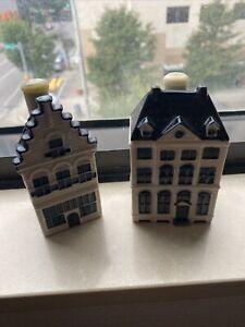 Lot of 2 KLM Blue Delft's 2018 BOLS Houses # 48 & # 96 Amsterdam Sealed Ceramic