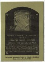 TOM CONNOLLY Hall of Fame METALLIC Plaque Card