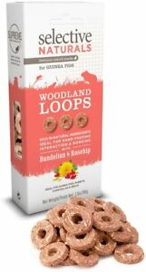(3 Pack) Selective Naturals Woodland Loops Dandelion & Rosehip Guinea Pig 2.8-Oz