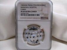 Poland 1985 Proba Silver 1000Z  Pattern-P-484A Hospital-NGC PF69 Ultra Cam-OFFER