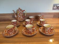 More details for a royal winton coffee set decorated in a paisley pattern made in england