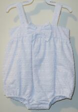BN ~ Bella Bliss White Eyelet Bow Bubble ~  Size 12 Month ~ Cute!