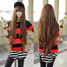 """Women Anime Long Curly Wavy Synthetic Party Cosplay Full Head Wigs 80cm/31.5"""""""