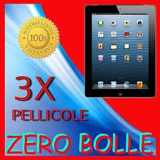 3 Pellicola Per APPLE IPAD 4 Protezione LCD Display Salva Schermo Pellicole