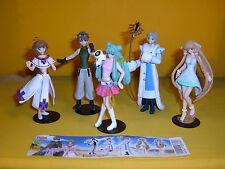 TSUBASA RESERVOIR CHRONICLE Sakura FAY Shaolan GASHAPON CLAMP 5 FIGURE set YUJIN