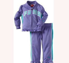 PUMA BABY GIRLS PURPLE RUFFLE JACKET TRACK PANTS SET 18 MONTHS NEW