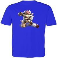 Super Mario Bowser Olympic Baseball Unisex Kid Girl Boy Youth Graphics T-Shirt