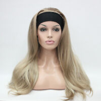 D79 Synthetic Gold Women Lady Long Straight Hair Natural Full Wig Cospaly M