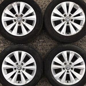 Genuine VW Golf Mk7 Toronto 16 Alloy Wheels Tyres 205 55 Caddy 10 Spoke Polished
