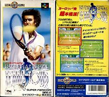 INTERNATIONAL TENNIS TOUR - SUPER FAMICOM NINTENDO SNES JAP