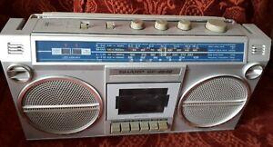 Sharp Portable Stereo/Cassette Radio. GF 46 46. 1980's