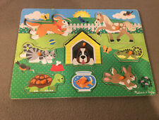 Melissa and Doug 19053 - Wooden Peg Puzzle - Pets