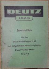 Deutz Radschlepper D 40 Ersatzteilliste
