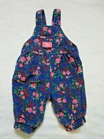Vintage Oshkosh B'Gosh Vestbak Flower Cordiroy Baby Shortalls Bubble 3-6 months