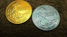 USN US NAVY RESERVE RECRUITER PROMOTIONAL PERSONAL CHALLENGE COMMAND COIN 2 EACH