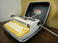 Vintage Gold Smith Corona Chancellor Electric / Electronic Typewriter with Case