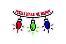 PIXELS Make Me Happy funny Light Show Light O Rama Christmas Car Decal