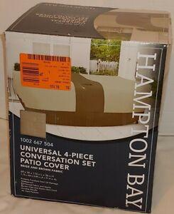"Universal 4 Piece Conversation Set Patio Cover 69""w 114""L 36""H Waterproof"