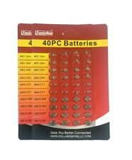 80  Assorted Alkaline Button Batteries Coin Cell Set Watch Calculator Battery