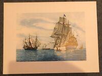 Kunstdruck Galerren gemalt um 1886 Poster 44,5 x 33,5 auf weißem Papier (M2)
