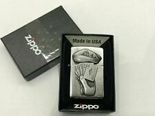 Original Zippo Trick Poker Hand Neu OVP 60001208 Kartenspiel Ass Chrome Brushed