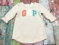 Baby Gap Girls 12-18 Months Dress. Pink GAP Logo Sweatshirt Dress & Bloomer. Nwt
