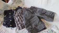 3 boys/toddler shorts,3t,4t,& 5, osh gosh/ others, skull/crossbones, checks,